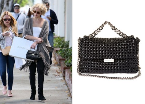 Stella McCartney Beckett medium faux-leather bag as seen on Jennifer Lawrence
