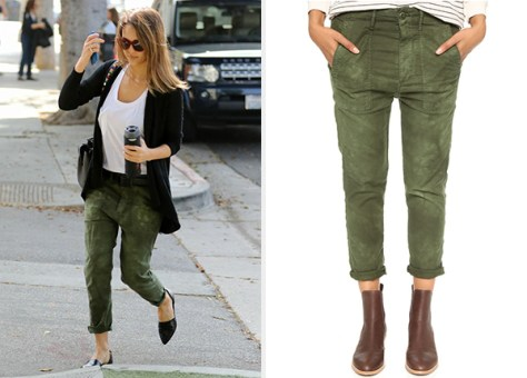 The Great. The Slouch Army Pants as seen on Jessica Alba