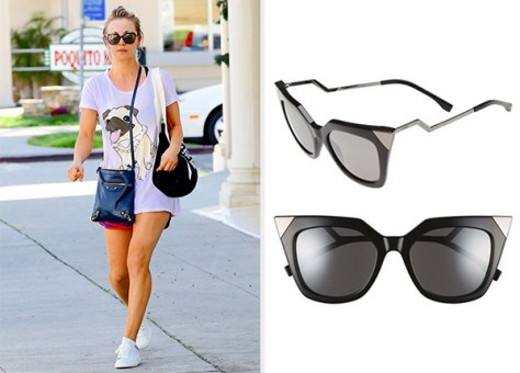 Fendi Angular Cat Eye Sunglasses as seen on Kaley Cuoco