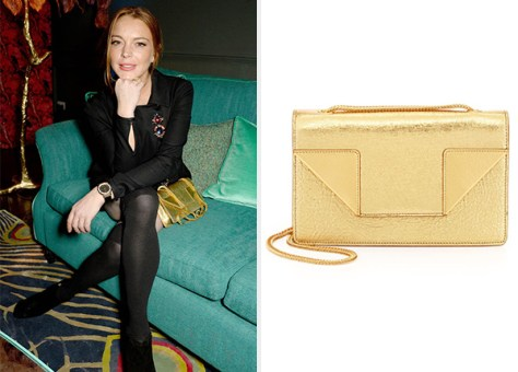 Saint Laurent Betty Mini Chain Shoulder Bag as seen on Lindsay Lohan