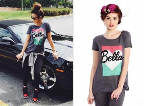 Wildfox Couture Bella Pop Travelers Dirty Black Tee as seen on Nicole Guerriero Instagram