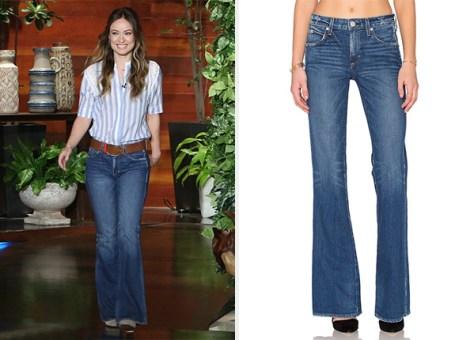 Amo Mariner Kick Jeans as seen on Olivia Wilde