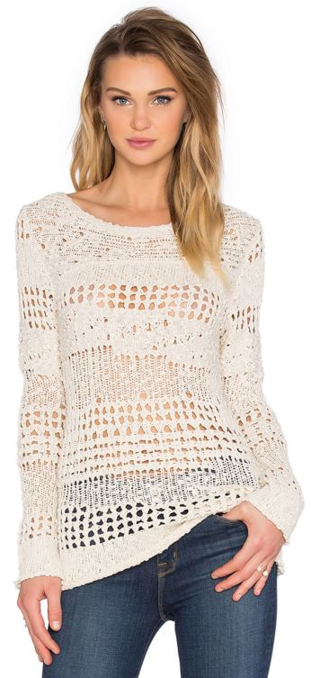 Inhabit Crew Neck Crochet Sweater