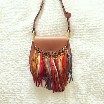 Chloé 'Hudson' Multicoloured Fringe Shoulder Bag