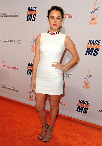 Alexander McQueen Embellished Crepe Dress as seen on Camilla Luddington