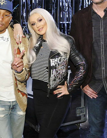 R13 Distressed Shrunken Sweater as seen on Christina Aguilera on The Voice Season 10