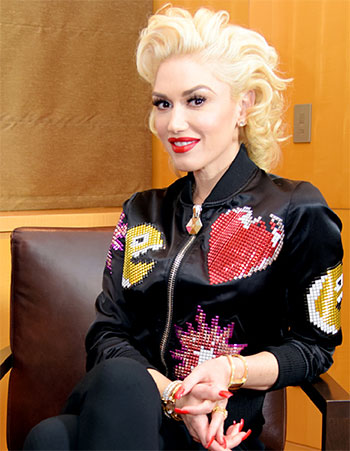 Philipp Plein Sequin Bomber Jacket as seen on Gwen Stefani