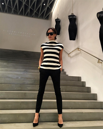 Victoria Beckham Striped Knitted Top