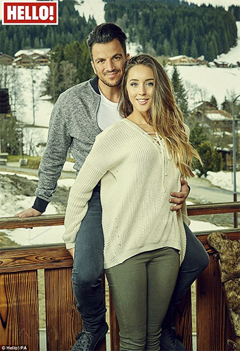 River Island Cream knitted lace-up jumper as seen on Emily MacDonagh in Hello Magazine alongside husband Peter Andre