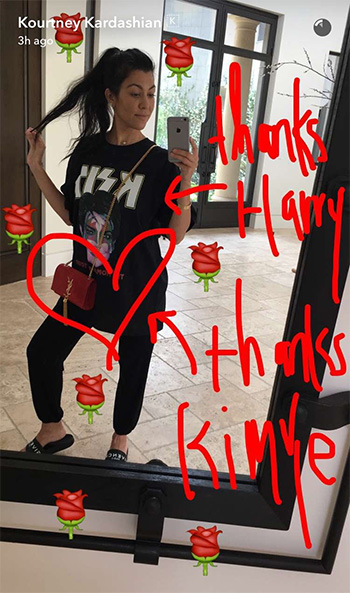 Saint Laurent Kate Monogram Velvet Tassel Satchel Bag as seen on Kourtney Kardashian Snapchat