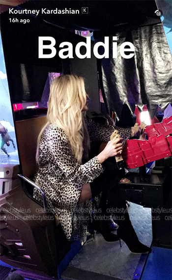 Khloe Kardashian wearing a pair of Gianvito Rossi Suede Cuissard Boots to her birthday party at Dave & Buster's in Hollywood, CA on June 27, 2016.