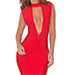 House Of CB Kamaria Red Asymmetric Bandage Dress