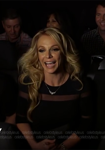 """Britney Spears wears a Bebe Mesh Inset Power Knit Dress on her sister Jamie Lynn Spears documentary """"When The Lights Go Out"""" - June 2016."""