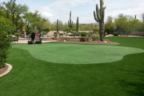 Paradise Valley Scottsdale artificial grass private putting green