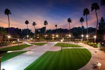 Arizona commercial synthetic lawn grass installation