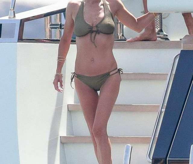 Jennifer Connelly In Green Bikini Spotted On A Yacht In Ibiza Spain