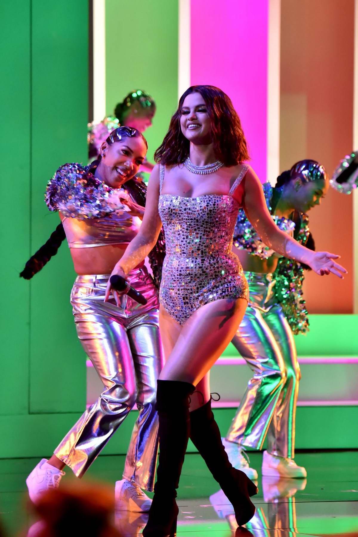 Selena Gomez Performs At The American Music Awards At
