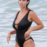 Ludivine Kadri Sagna in Swimsuit at a Beach in Miami Photos