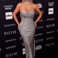 Kim Kardashian Stills at Harper's Bazaar Icons Party in New York