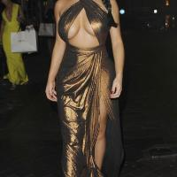 Demi Rose Mawby Stills Leaves House of CB Christmas Dinner Bash in London