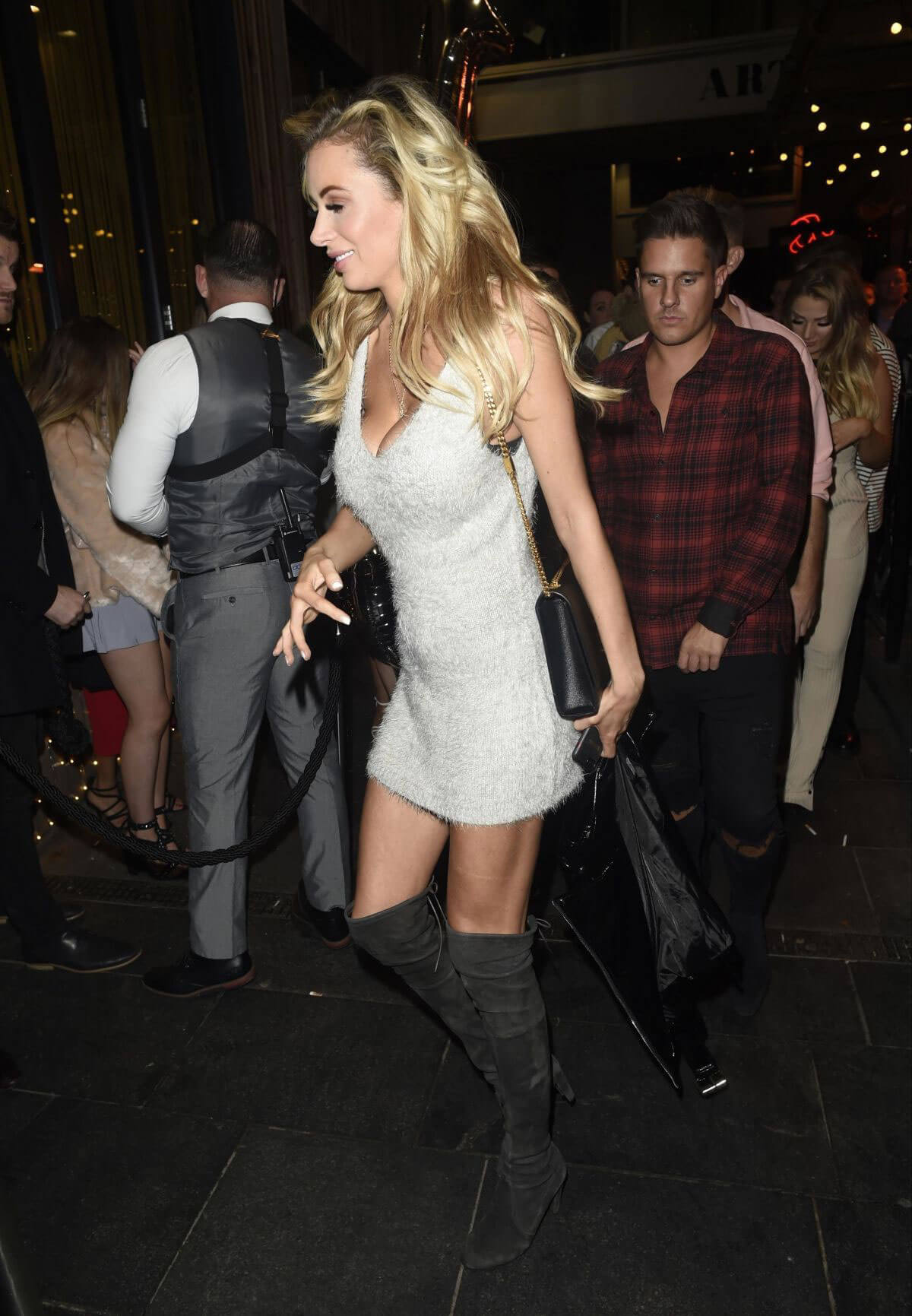 Olivia Attwood Shows Off Lean Legs In Short Dress Night