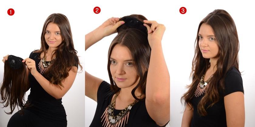 Hair Crown Hairpiece Clip In Volume Hair Extensions 10