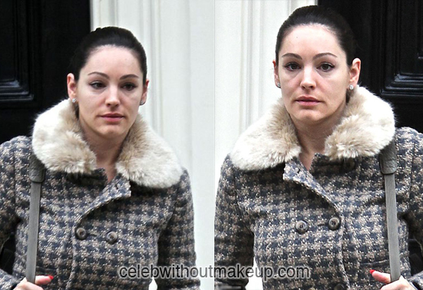 Kelly Brook With and Without Makeup