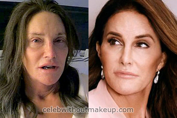 Caitlyn Jenner Before and After Makeup