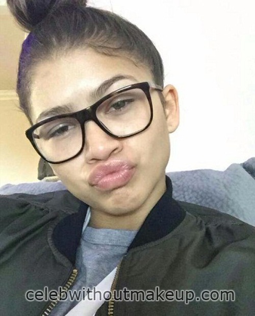 Zendaya Before and After Makeup