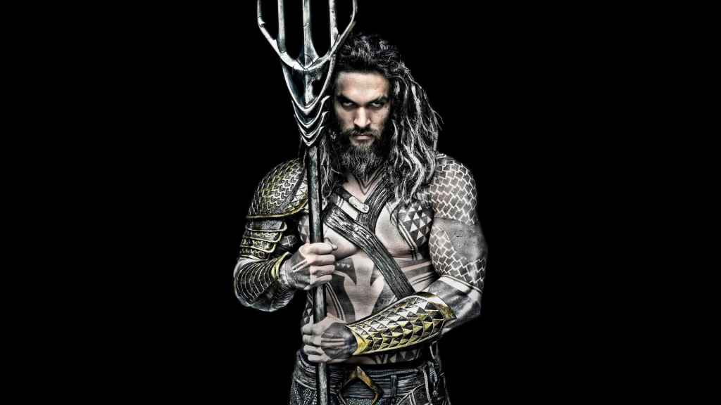 Jason Momoa Aquaman Black And White Movie Wallpaper Poster 2018 Min