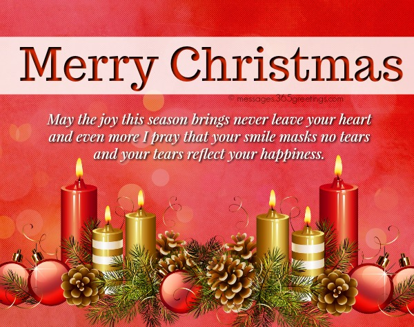 Merry Christmas Wishes With Joy Smile Happiness