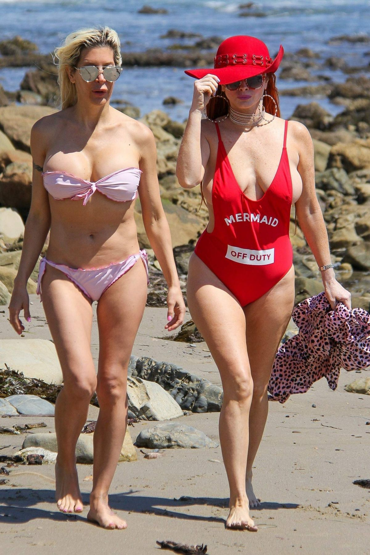 Frenchy Morgan And Phoebe Price Impromptu Photoshoot In