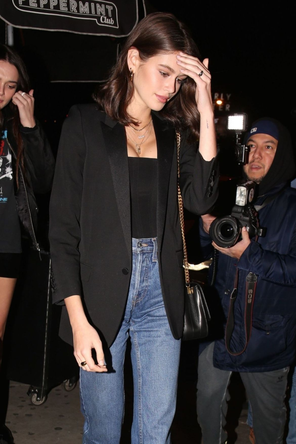 Kaia Gerber Leaving the Peppermint Club in West Hollywood