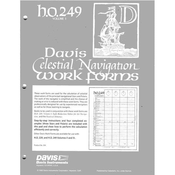 Davis Work Forms HO-249 Vol. 1