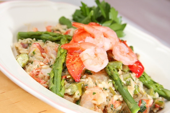 Gluten-Free Lobster Shrimp Asparagus Risotto