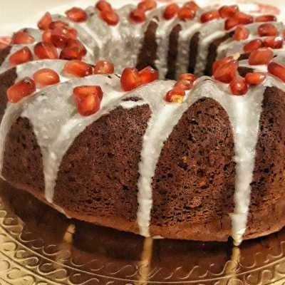 Chocolate cake al melograno