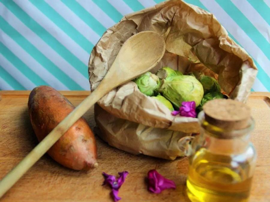 Chou de Bruxelles: Recette sucrée salée de choux de Bruxelles aux patates douces et sirop d'érable
