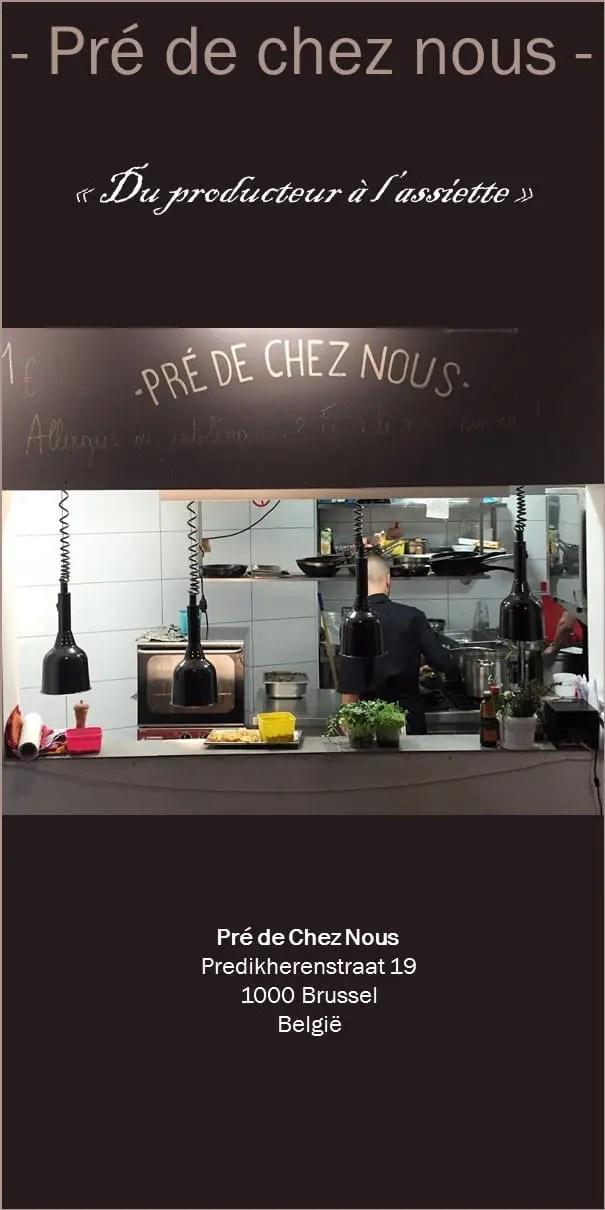 Mon avis sur Pré de chez nous: le restaurant bio et originla au coeur de Bruxelles