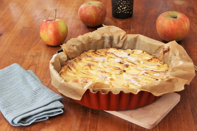 Recette facile et rapide de la tarte aux pommes rustique à la belge (sepculoos - frangipane)