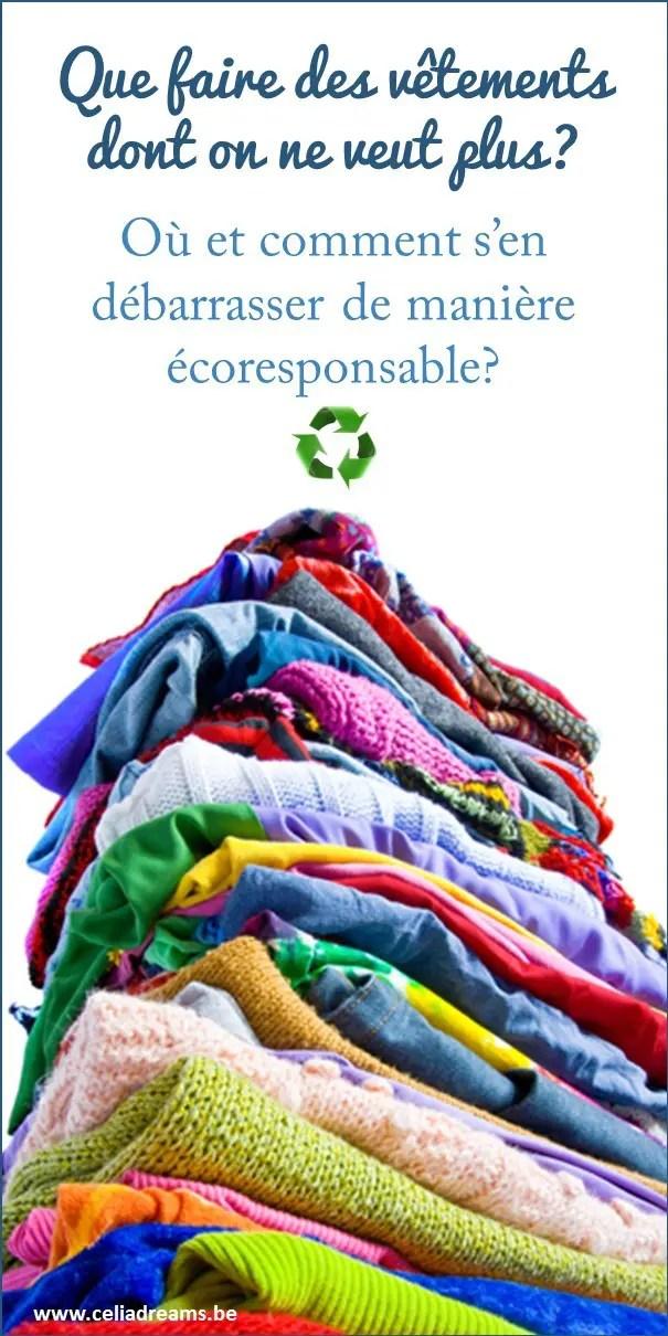 Que faire des vêtements dont on ne veut plus (où et comment s'en débarrasser de manière écoresponsable) ?