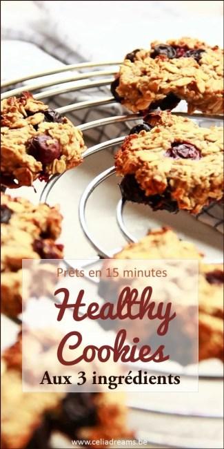 Healthy Cookies à base de 3 ingrédients sains: testez ma recette facile et rapide à réaliser.