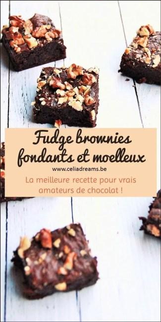 Réalisez ma recette facile et rapide de fudge brownies au chocolat moelleux et fondants