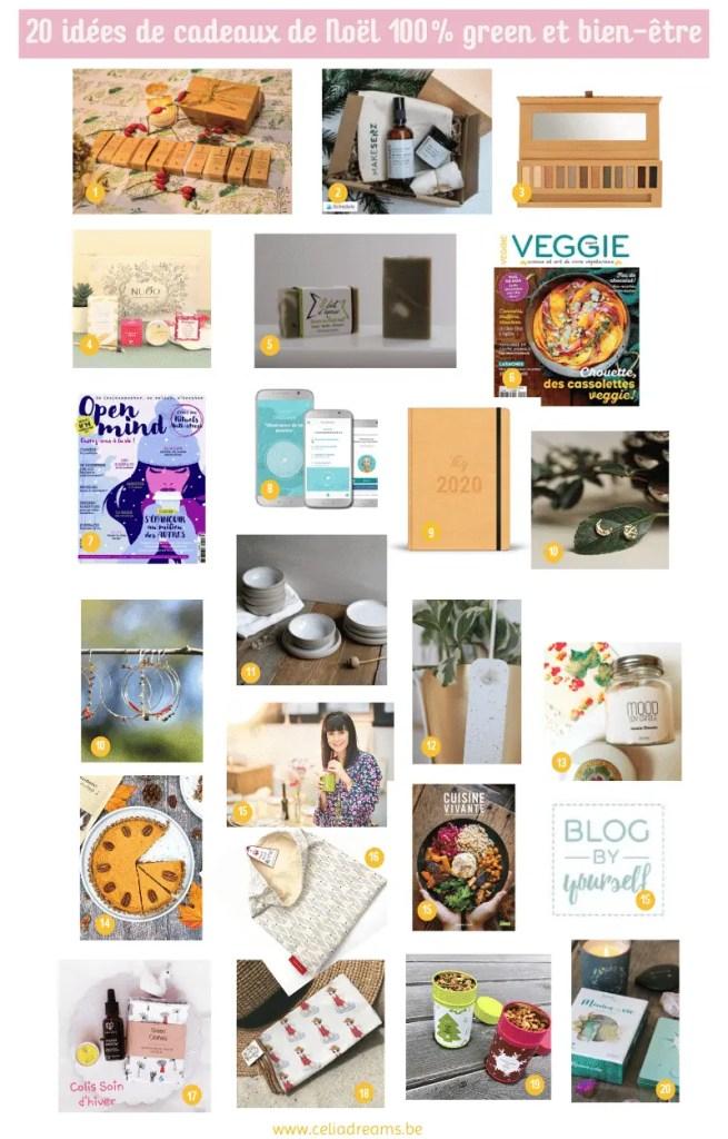 20 idées de cadeaux de Noel green et bien-etre