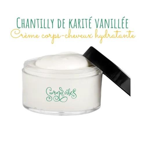 Chantilly de karité corps et visage: recette de crème hydratante vanillée