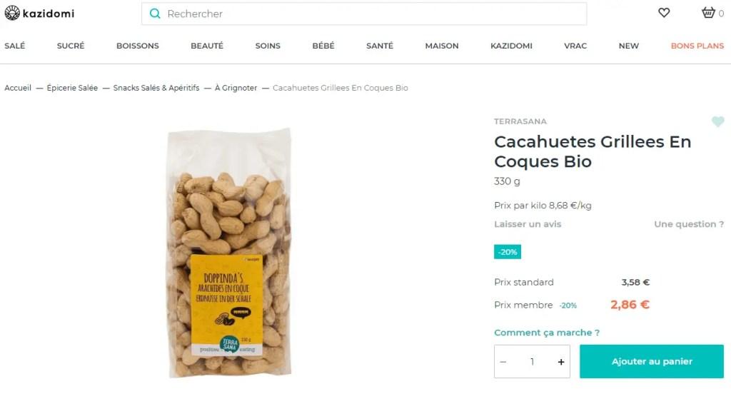 Kazidomi code promo (beurre de cacahouète)