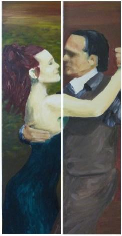 la pareja que no baila -oleo-2x20x80-2010