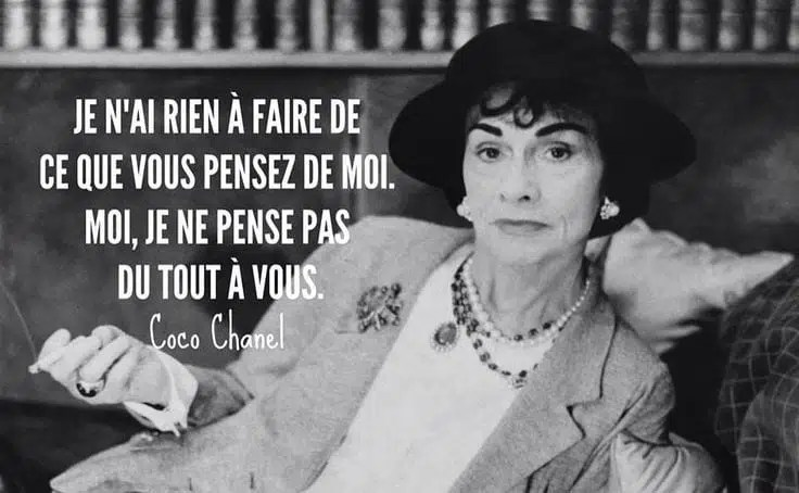 Coco Chanel citation femme libre