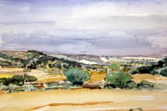 Camino de la Basa (acuarela de Fernando Alvira)