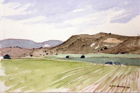La sierra blanca (acuarela de Fernando Alvira)