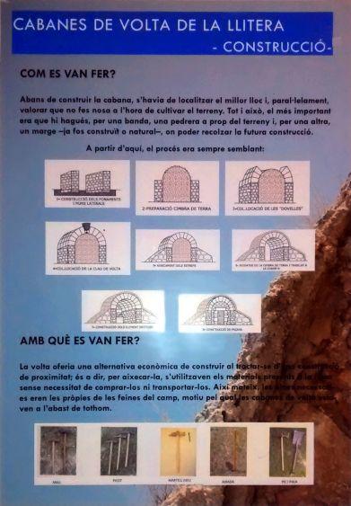 <i>Cabanes de volta de la Llitera: construcció</i> (infografía de Laia Brualla)